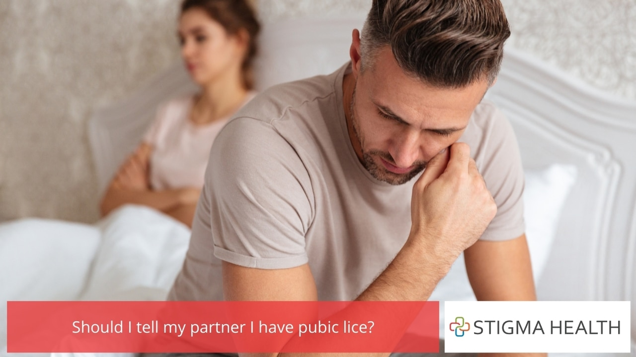Should I tell my partner I have pubic lice