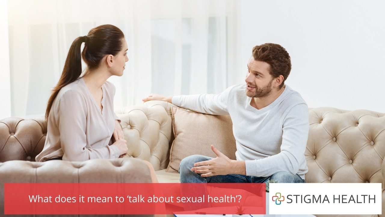 What does it mean to 'talk about sexual health'
