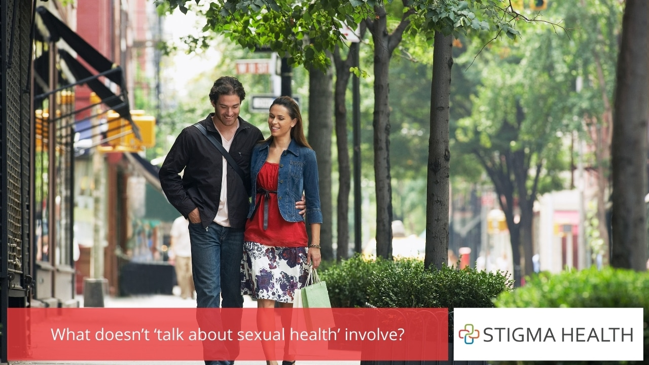What doesn't 'talk about sexual health' involve