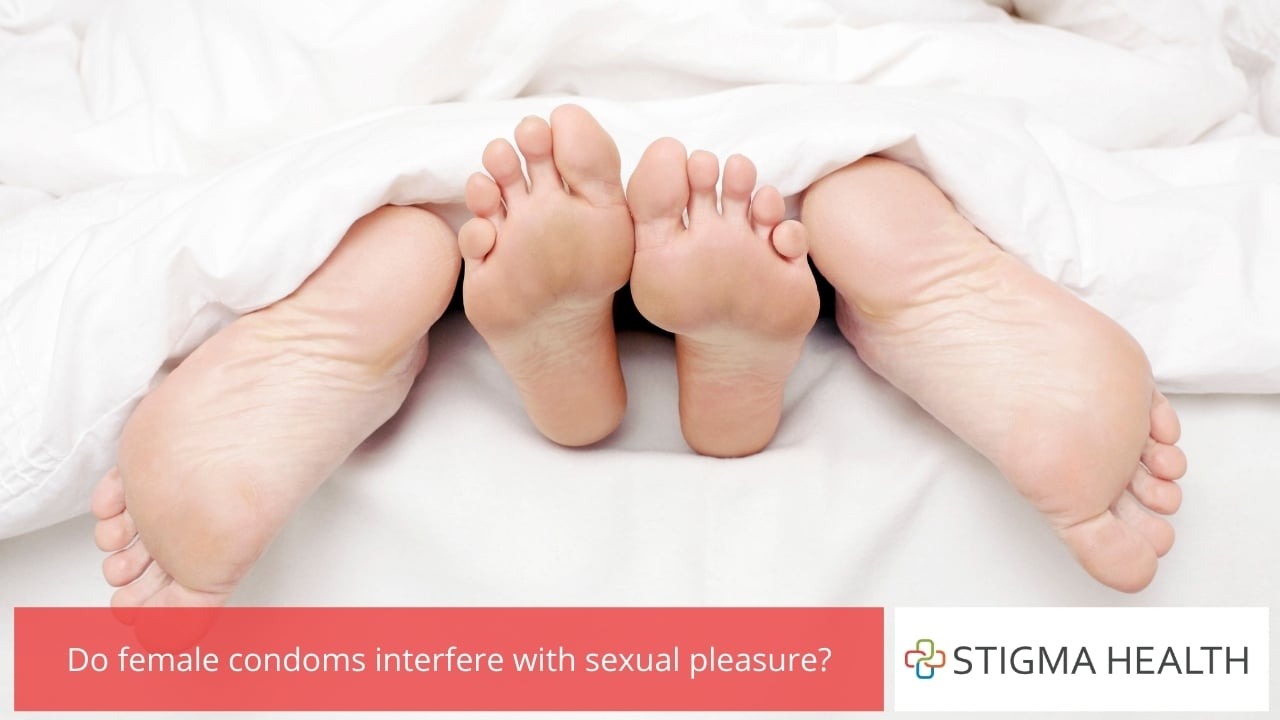 Do female condoms interfere with sexual pleasure?